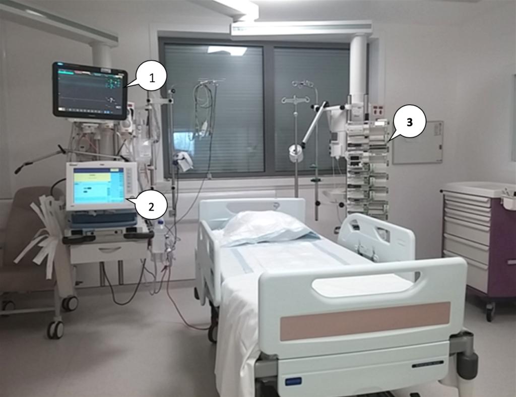 Chambre du Service réanimation Centre Hospitalier Sud Francilien (91)